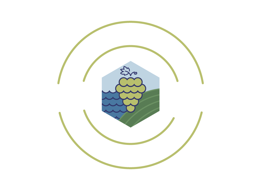 wineries of old mission peninsula white logo