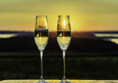 Two wine flutes yellow sunset 2U7A7368 web